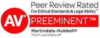Civil Trials and Appeals Martindale-Hubbell Preeminate